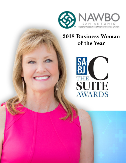 Awards Kay Scroggins, RN, CCRC President/CEO C-Suite Award for Small/Midsize Companies San Antonio Business Journal Business Woman of the Year Award for National Association of Women Owned Business